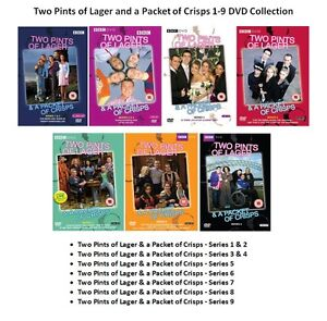 TWO PINTS OF LAGER AND A PACKET OF CRISPS Complete Series 1 2 3 4 5 6 7 8 9 DVD