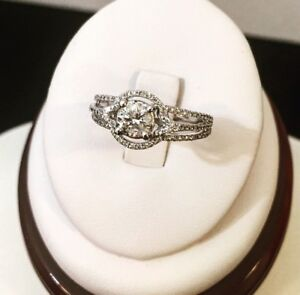 14K Gold Halo Diamond Engagement Ring /Valued at $7,600 Stunning