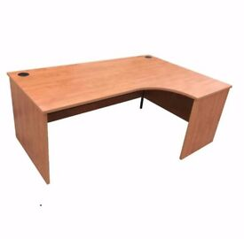 CURVED EXECUTIVE OFFICE DESKS. FREE FAST DELIVERY. 4 AVAILABLE