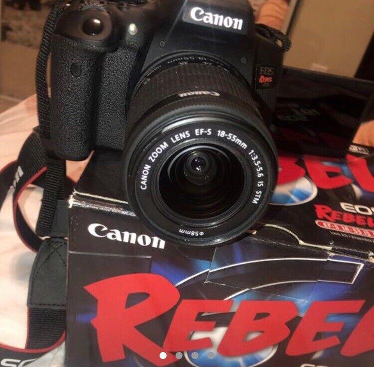 Canon EOS Rebel T6i DSLR Camera with EF-S 18-55mm IS STM Lens Black 0591C003