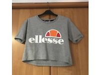 Grey Ellesse crop top