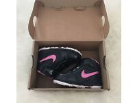 BNIB Girls Pink & Black Nike Lil Prestige II Hi Size infant 3.5