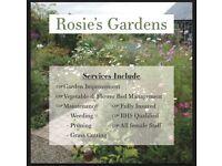 Qualified female gardener