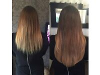 HAIR EXTENSIONS, NANO RINGS, MICRO RINGS, FUSION BONDS, TAPE CURLY, BLOW DRY