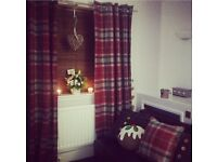 Next curtains and matching cushions x2