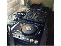 Cdj1000 mk3 djm600 with active speakers