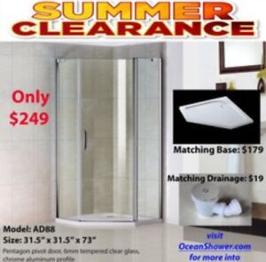 Best Conner Tempered Glass Shower Enclosure