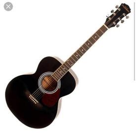 Freshman FA1FBK Folk Body Acoustic Guitar Black
