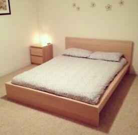 Super king Malm bed and mattress