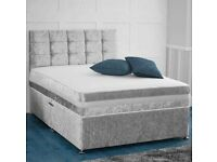 frozen silver double bed