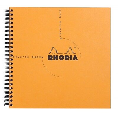 Rhodia Wirebound - Reverse Notebook - Orange - Graph - 8.25 X 8.25 - New R193608
