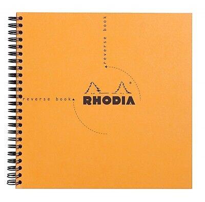Rhodia Wirebound - Reverse Notebook - Orange - Graph - 8.25 X 8.25 - New R193608