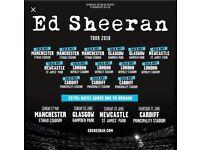 2 x seated Ed Sheeran tickets 21st June Cardiff