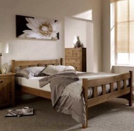 Brand new boxed wooden 5ft king size Rustic look bed frame RRP £240