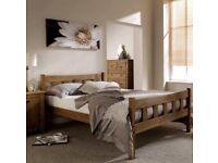 5ft king size, 4ft 6 Double Rustic or 3ft Single look wooden bed frame only