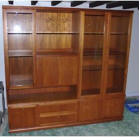 Meredew Solid Teak Large Display Cabinet - Immaculate- £50ono