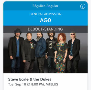 Steve Earle Concert Tickets