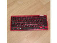 Logik red wireless keyboard