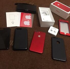 Red iphone 7 plus 128gb vodafone