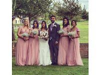 Bridesmaid dress, dusty/rose pink, empire cut