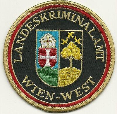 Österreich LKA LANDESKRIMINALAMT WIEN - WEST Polizei Patch Stoffabzeichen Vienna