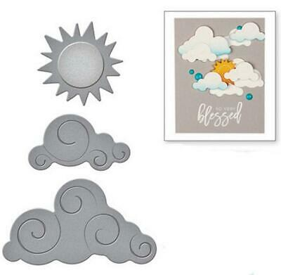 Cloud Moon Sun METAL CUTTING DIES DIY Scrapbook PAPER card album present - Cloud Paper