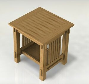 Details about Mission Style End Table Woodworking Paper Plans