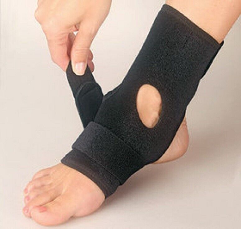 NEW Ankle Support Wrap Strap Adjustable Achilles Custom Fit Targeted Compression Health & Beauty