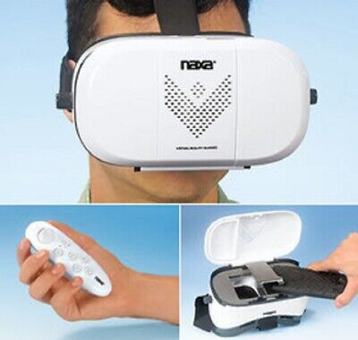 Virtual Reality VR Reality 3D Glasses Headset With Remote Naxa Holovue iPhone
