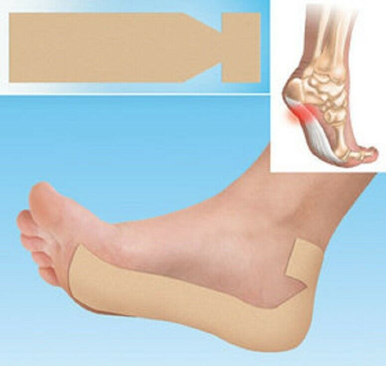 Plantar Fasciitis Strips Trimmable Adhesive Strips Tape Fast Relief Heel Pain X7 Foot Creams & Treatments