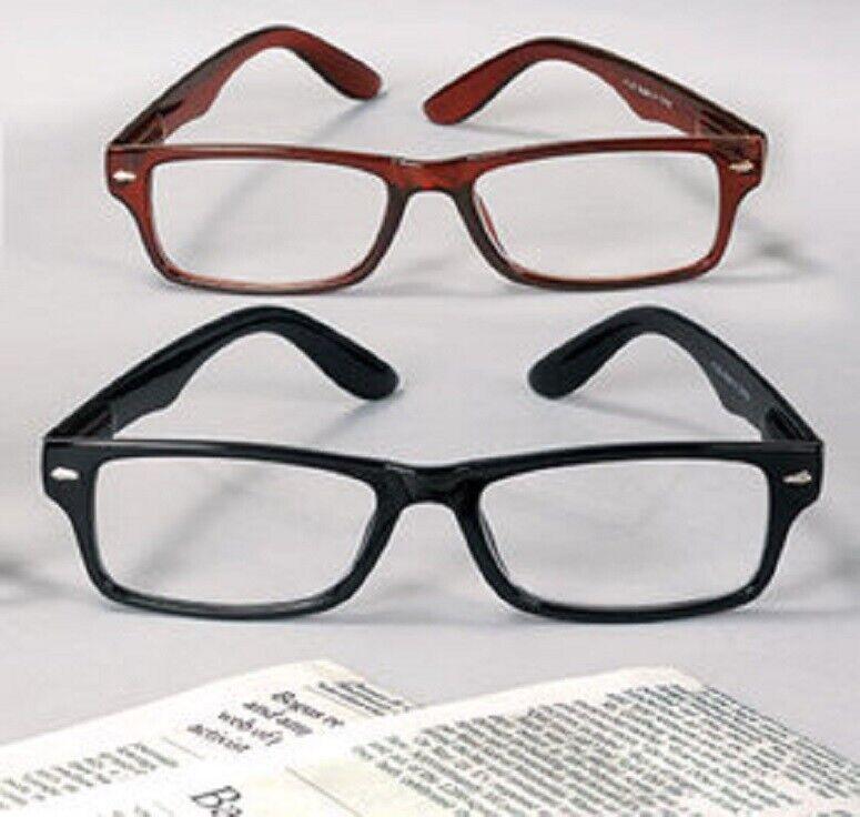 Reading Glasses Retro Black 3.0 Magnification Scratch Resistant Unisex SET OF 2 Health & Beauty