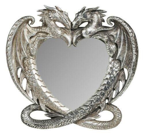 Alchemy Gothic Coeur Savage Light Dark Dragons Mirror Antiqued Silver Resin V84