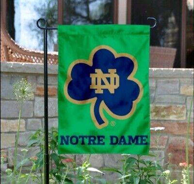 Notre Dame Fighting Irish Shamrock Garden Flag and Yard Banner - Notre Dame Flag