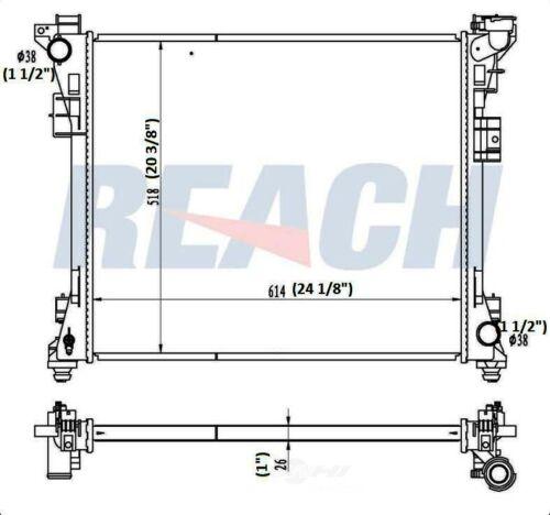 Reach Cooling REA41-13062A Radiator
