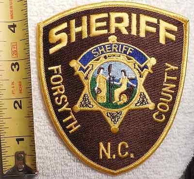 FORSYTH COUNTY NORTH CAROLINA SHERIFF PATCH (HIGHWAY PATROL, EMS, STATE POLICE)