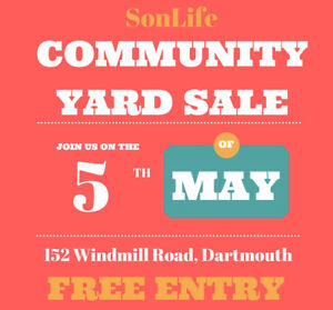 SonLife Community Yard Sale, Saturday May 5, 8:30am