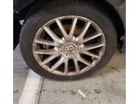 "Volkswagen Golf GT 17"" Alloys with tyres in decent condition - BARGAIN"