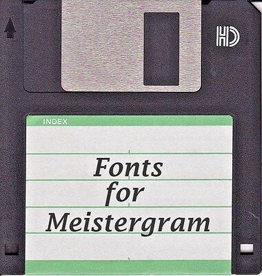 Meistergram Alphabet Fonts SOFTWARE DISK BUYERS CHOICE You pick 10 YOUR CHOICE Embroidery Fonts Software