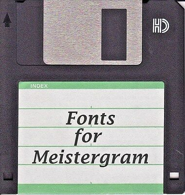 Meistergram Alphabet Fonts SOFTWARE DISK BUYERS CHOICE You pick 5 YOUR CHOICE Embroidery Fonts Software