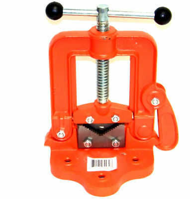 Bench Pipe Vise Yoke Hinged Clamp On Type Plumbing Pipe Holding Tools 2
