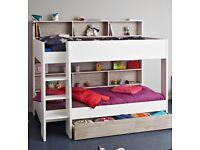 Parisot Tam Tam White & Grey Bunk Bed + underbed storage.