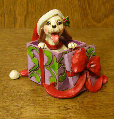 """Jim Shore Heartwood Creek #4047781 CHRISTMAS DOG, New From Retail Store 2.75"""""""