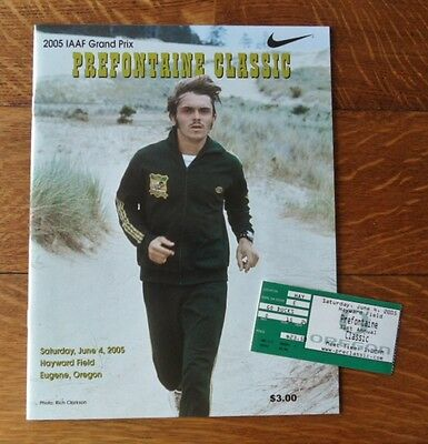 >2005 **GEM MINT** Steve PREFONTAINE CLASSIC PROGRAM + TICKET - Free Shipping! ()