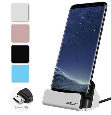 Black Dock Station Cradle - Desktop Dock Station Cradle Micro USB Charger Support FAST Charging For Samsung