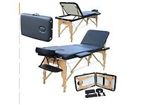 Massage Table with Accessories, Table Cover and Carry Bag