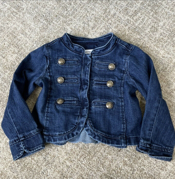 GAP Girls Icon Denim Band Jacket 3T
