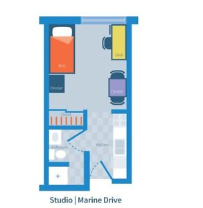Marine Drive Studio available during 4 months of summer