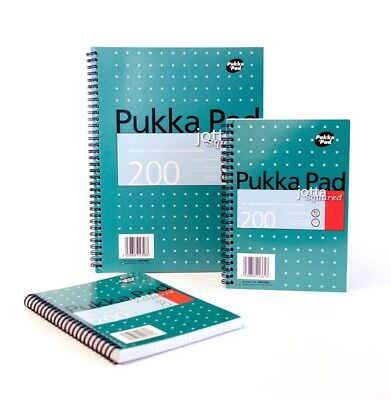 A4/A5 Pukka Pad Notebook Jotta Wirebound Book Perforated Spiral Ruled Cheap