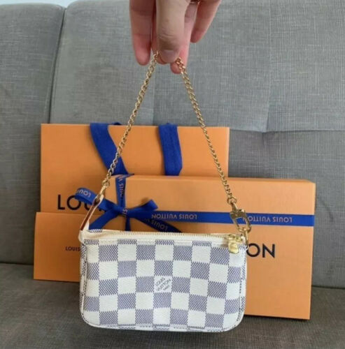 NEW Louis Vuitton Mini Pochette Accessoires Damier Azur 100 Authentic SOLD OUT