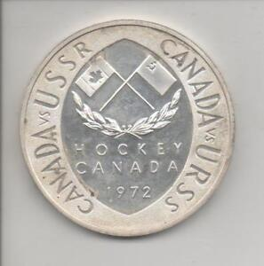 1972 Canada USSR Summit Series SILVER hockey medallion 2""